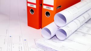 Reprografie CAD-Zeichnungen Ordner Plaene gerollt